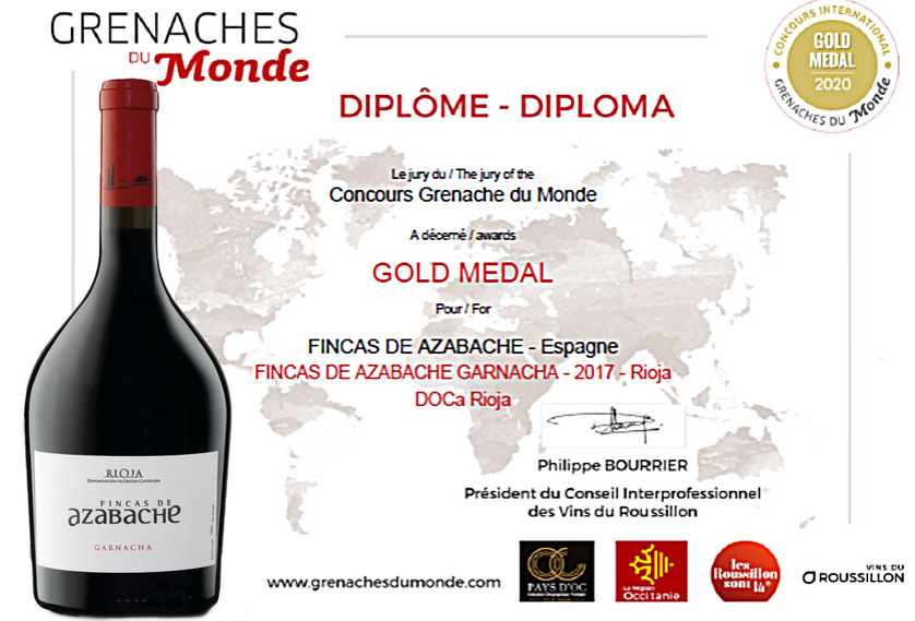 GOLD FOR OUR FINCAS DE AZABACHE GARNACHA