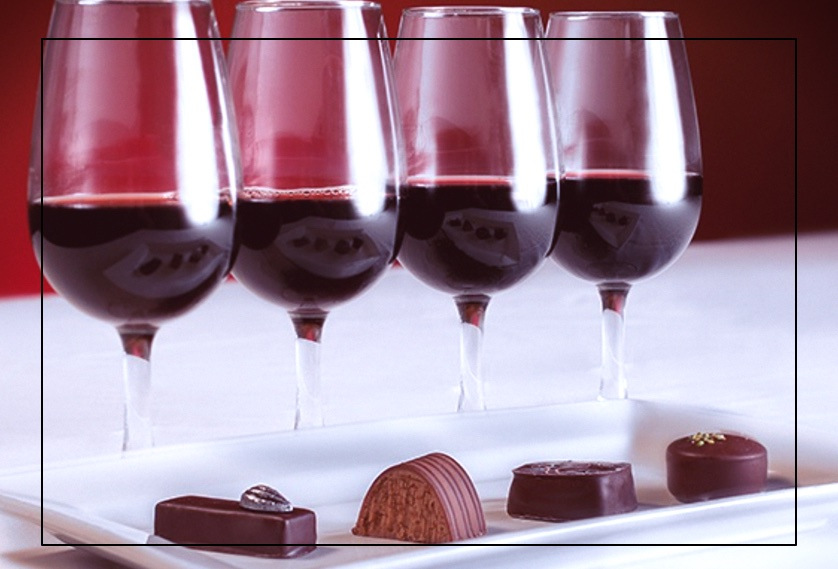 CHOCOLATE AND WINE FOR SAN VALENTINE